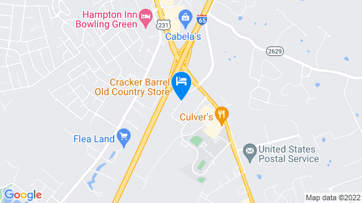 Best Western Plus Bowling Green Map
