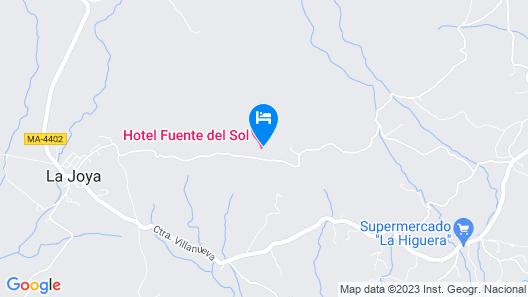 Hotel Fuente del Sol Map