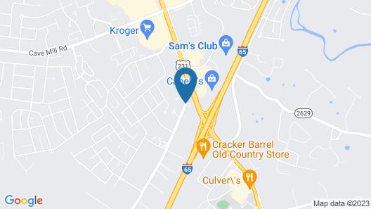 Hampton Inn by Hilton Bowling Green Map