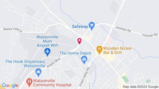Comfort Inn Watsonville Map