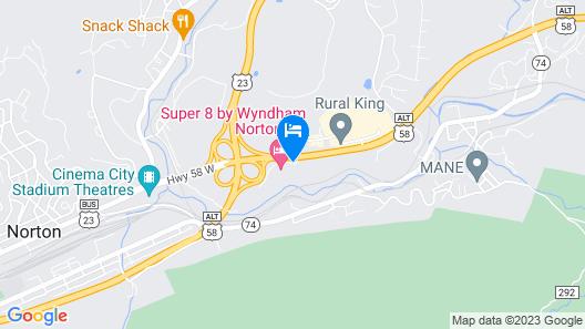 Super 8 by Wyndham Norton VA Map