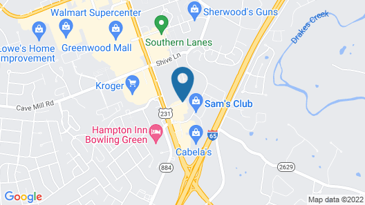 Home2 Suites by Hilton Bowling Green Hotel Map
