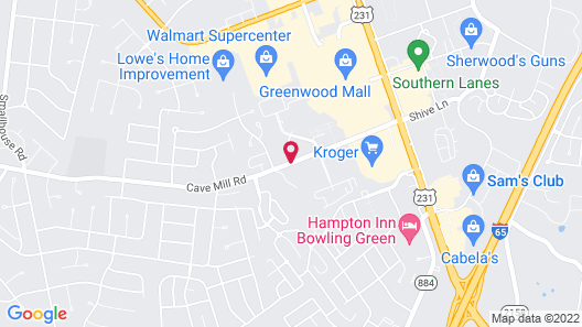 TownePlace Suites Bowling Green Map