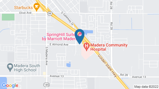 SpringHill Suites by Marriott Madera Map