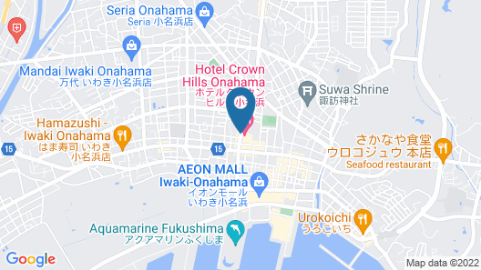 HOTEL CROWN HILLS ONAHAMA Map