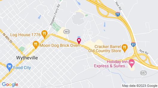 OYO Hotel Wytheville I-77 & I-81 Map