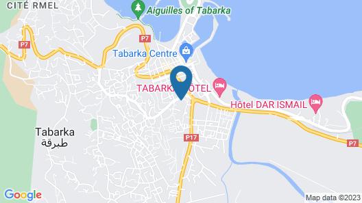 Les Mimosas Tabarka Map