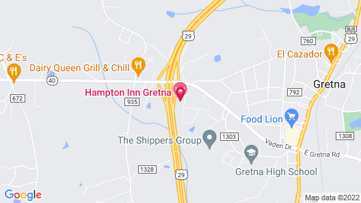 Hampton Inn Gretna Map