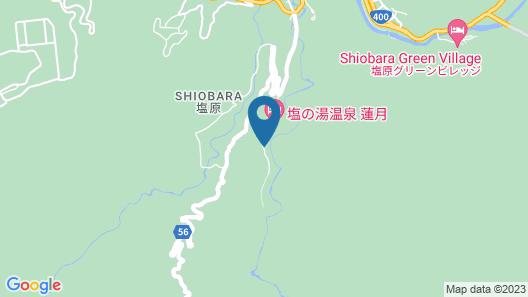 Kashiwaya Ryokan' Hot Spring Resort in the Gorge Map