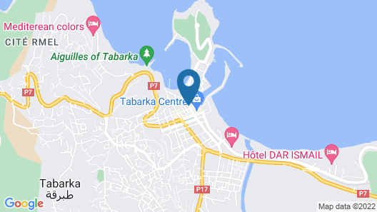 Hotel Marina Prestige Tabarka Map