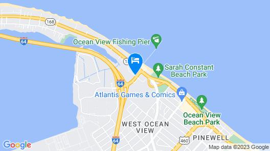 Motel 6 Norfolk, VA - Oceanview Map