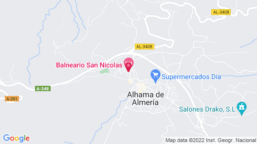 Hotel Balneario San Nicolás Map