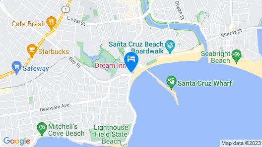Dream Inn Santa Cruz Map