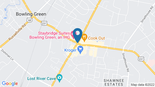 Staybridge Suites Bowling Green Map