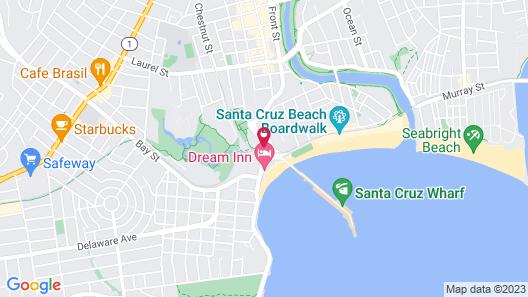 Howard Johnson by Wyndham Santa Cruz Beach Boardwalk Map