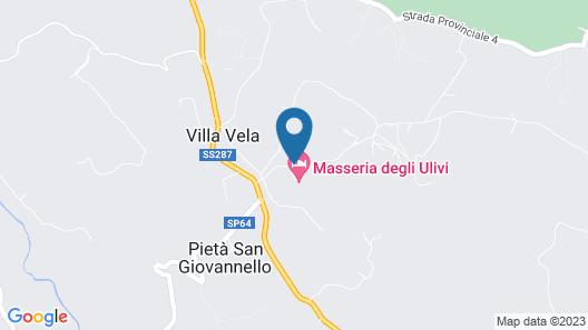 Hotel Masseria degli Ulivi Map