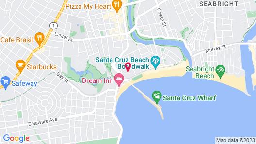 Beach Street Inn and Suites Map