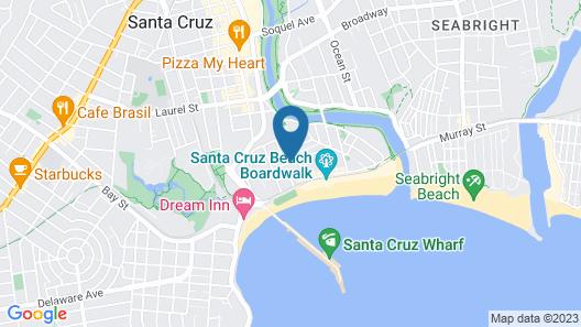 Fireside Inn Santa Cruz Map