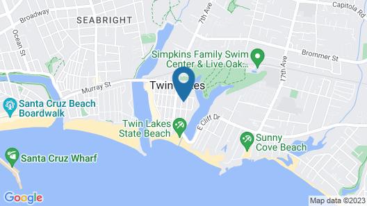 Santa Cruz Yacht Harbor Beach Cottage Located 2 Blocks From Twin Lakes Beach Map