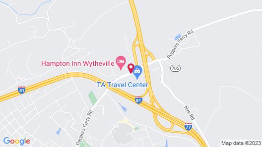 Hampton Inn Wytheville Map
