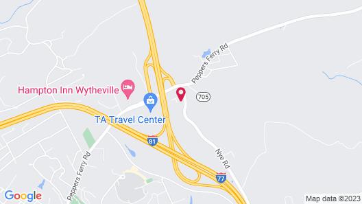 Sleep Inn Wytheville I-77 and I-81 Map