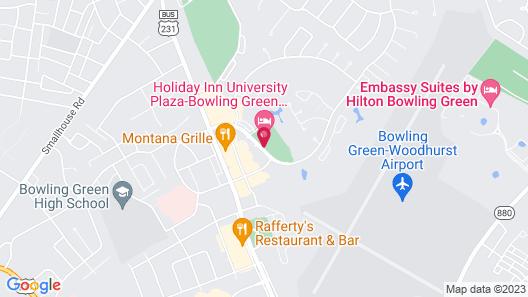 Hilton Garden Inn Bowling Green Map