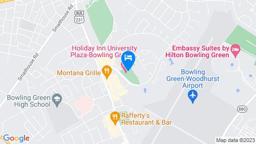 Holiday Inn University Plaza-Bowling Green, an IHG Hotel Map