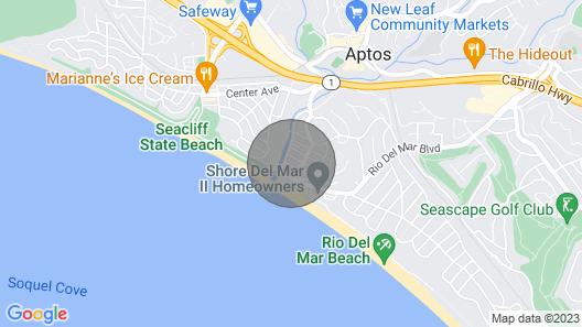 Beachside Aptos -- Quick Walk to Beach, Pet Friendly, Wifi, Washer & Dryer Map