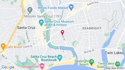Pacific Inn Santa Cruz Map