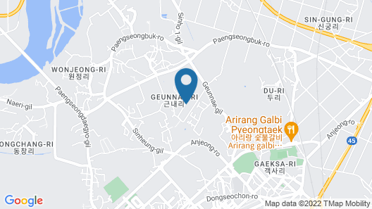 The American House of Camp Humphreys Map