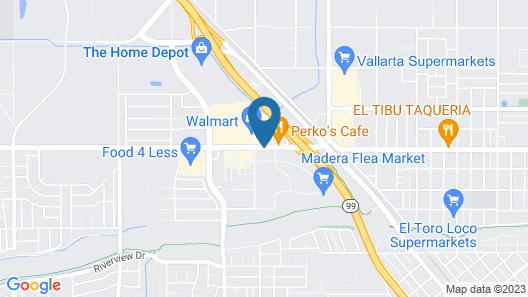 Knights Inn Madera Map