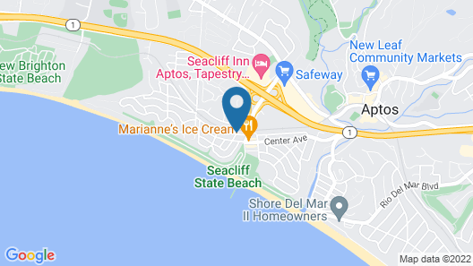 Private one Bedroom With Patio by the Ocean Map