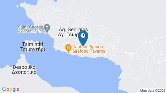 Antiparos luxury apartments Map
