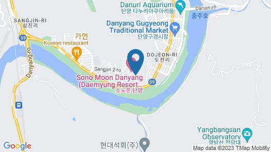Sono Moon Danyang (formerly Daemyung Resort Danyang) Map