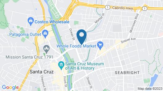 Ramada Limited Santa Cruz Map