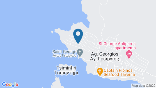 Recently Built, Charming, Cyclades Type House With Panoramic View of the Aegean Map