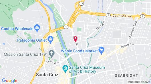 Quality Inn Santa Cruz Map