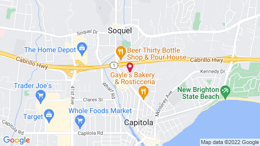 Quality Inn & Suites Capitola By the Sea Map