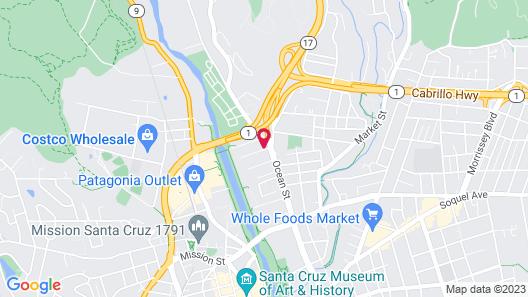 Hampton Inn Santa Cruz Map