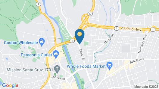 Comfort Inn Santa Cruz Map