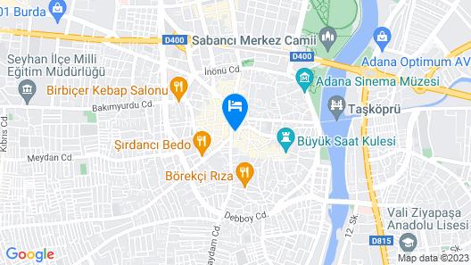 Adana Kucuksaat Hotel Map