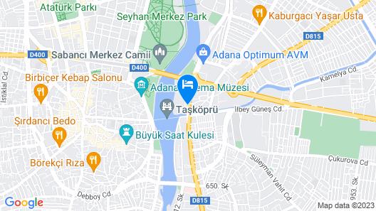 Adana Hilton SA Map