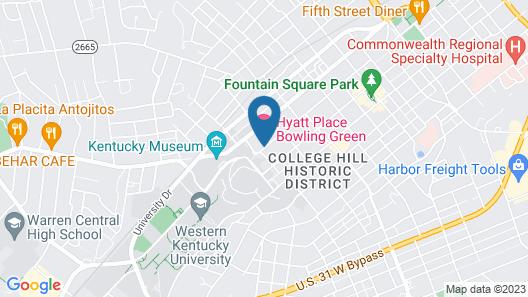 Hyatt Place Bowling Green Map
