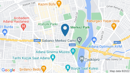 RIVA RESATBEY HOTEL Map