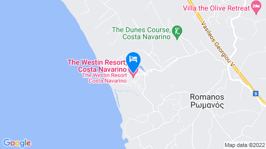 The Romanos, a Luxury Collection Resort, Costa Navarino Map