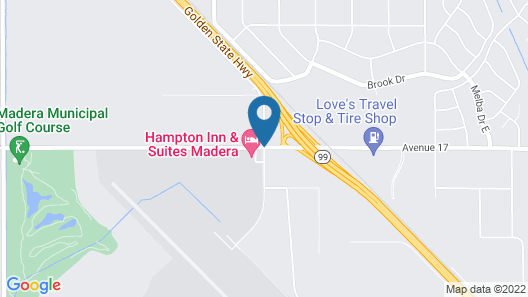 Hampton Inn And Suites Madera Map