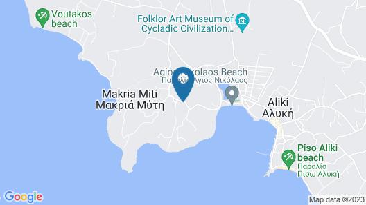 Paros Afrodite Luxury Villas Map