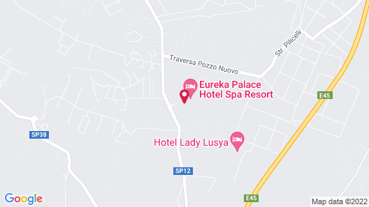 Eureka Palace Hotel Spa Resort Map
