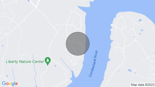 Lake Cumberland Retreat Near Somerset and Boat Ramps Map