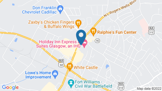 Holiday Inn Express & Suites Glasgow Map